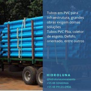 Tubulações em PVC Infra-estrutura